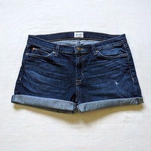 🇬🇧Hudson Indigo Jean Cut Off Shorts 31 / 32